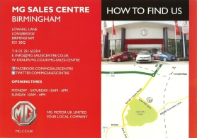 MG Motor UK location map